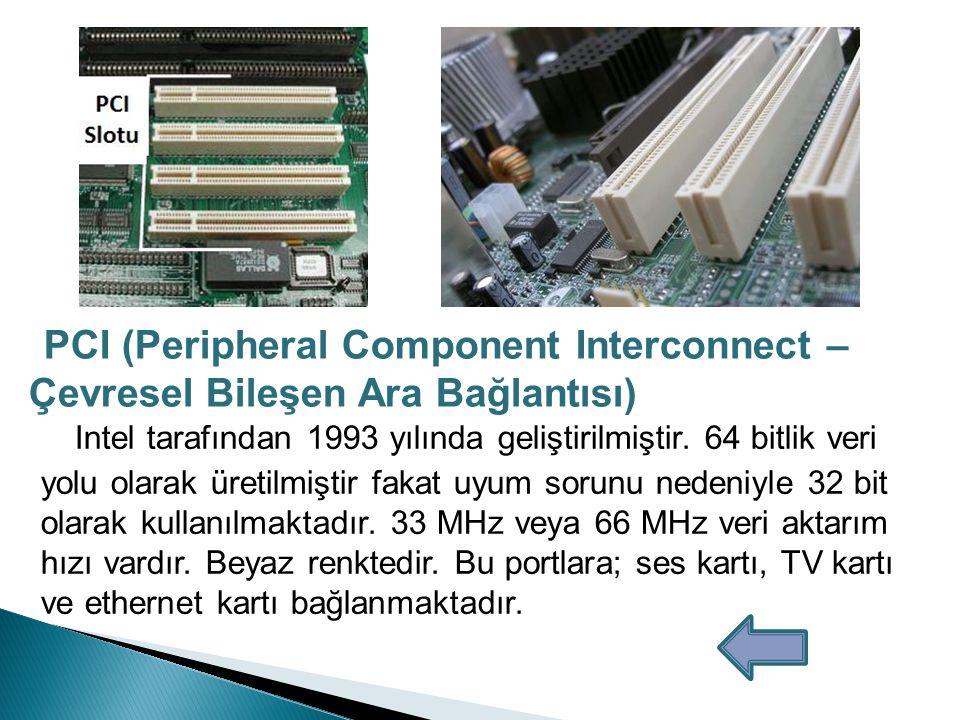 PCI (Peripheral Component Interconnect –Çevresel Bileşen Ara Bağlantısı)