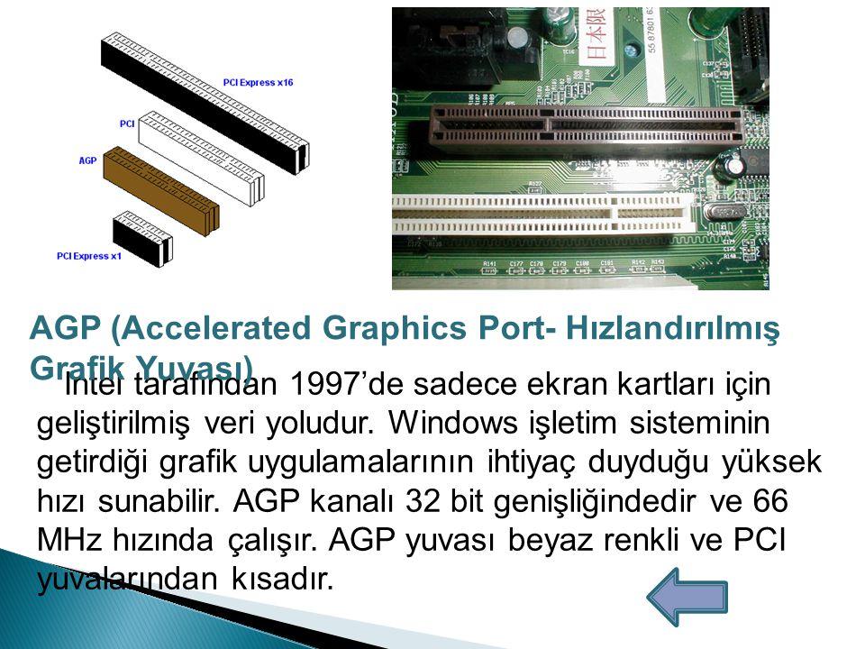 AGP (Accelerated Graphics Port- Hızlandırılmış Grafik Yuvası)