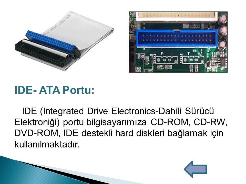 IDE- ATA Portu:
