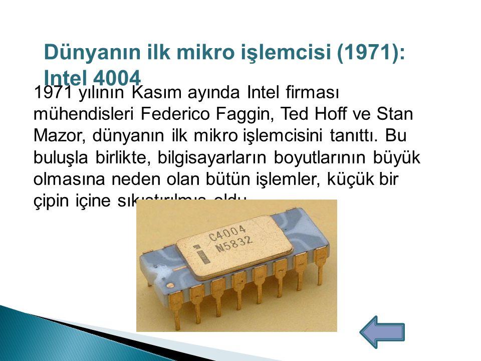 Dünyanın ilk mikro işlemcisi (1971): Intel 4004