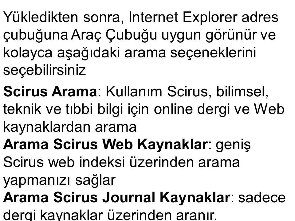 Yükledikten sonra, Internet Explorer adres çubuğuna Araç Çubuğu uygun görünür ve kolayca aşağıdaki arama seçeneklerini seçebilirsiniz