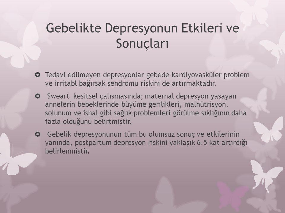 Gebelikte Depresyonun Etkileri ve Sonuçları