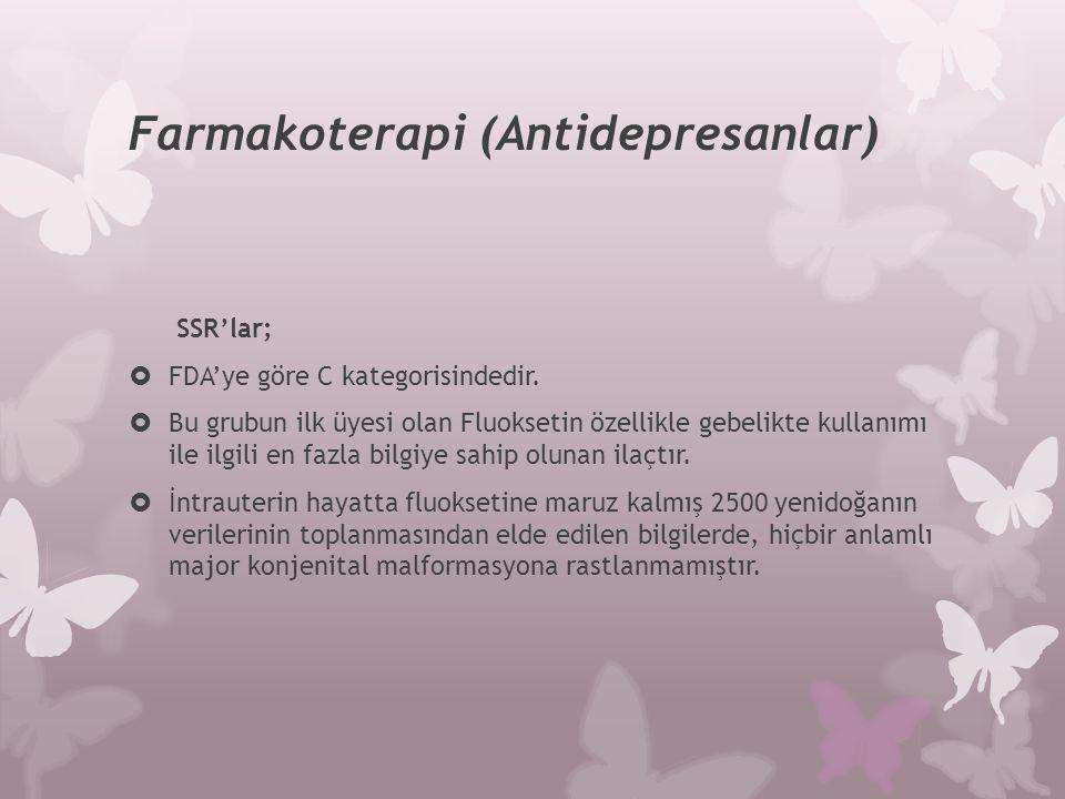 Farmakoterapi (Antidepresanlar)