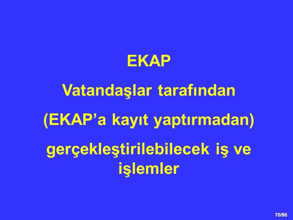 Vatandaşlar tarafından (EKAP'a kayıt yaptırmadan)