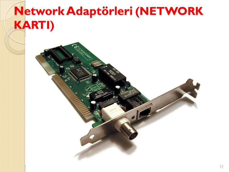 Network Adaptörleri (NETWORK KARTI)