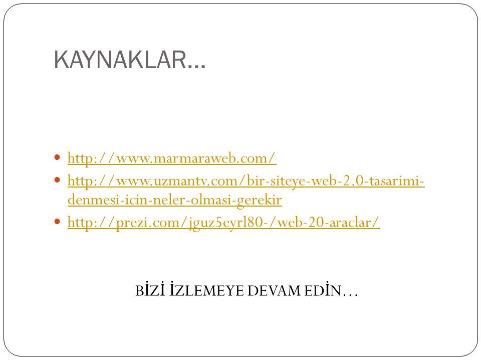 KAYNAKLAR… http://www.marmaraweb.com/