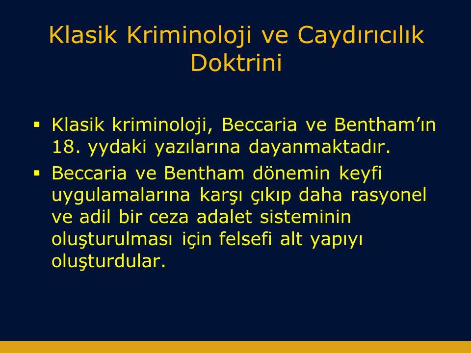 Klasik Kriminoloji ve Caydırıcılık Doktrini