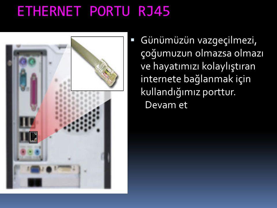 ETHERNET PORTU RJ45