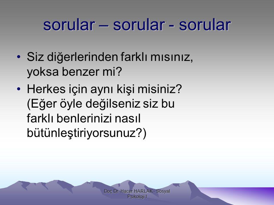 sorular – sorular - sorular