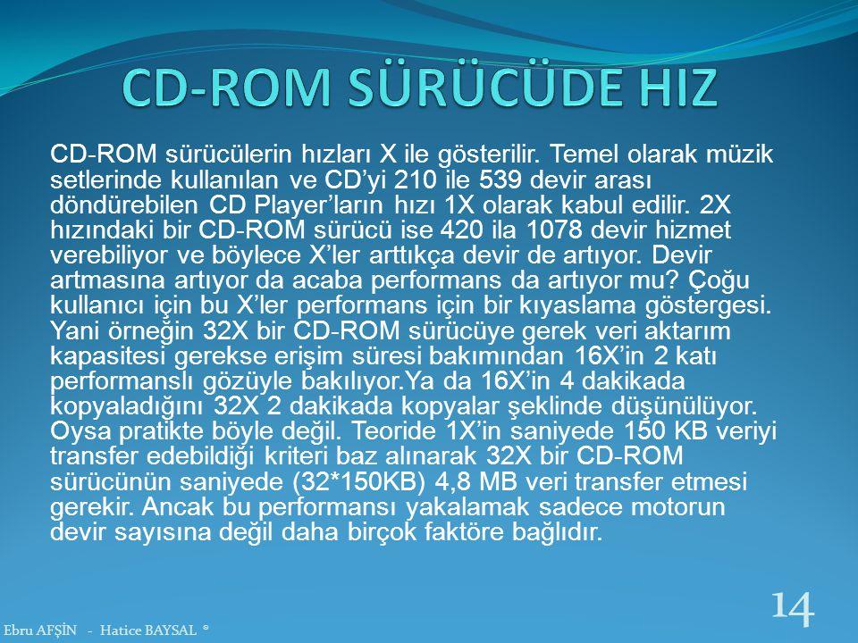 CD-ROM SÜRÜCÜDE HIZ