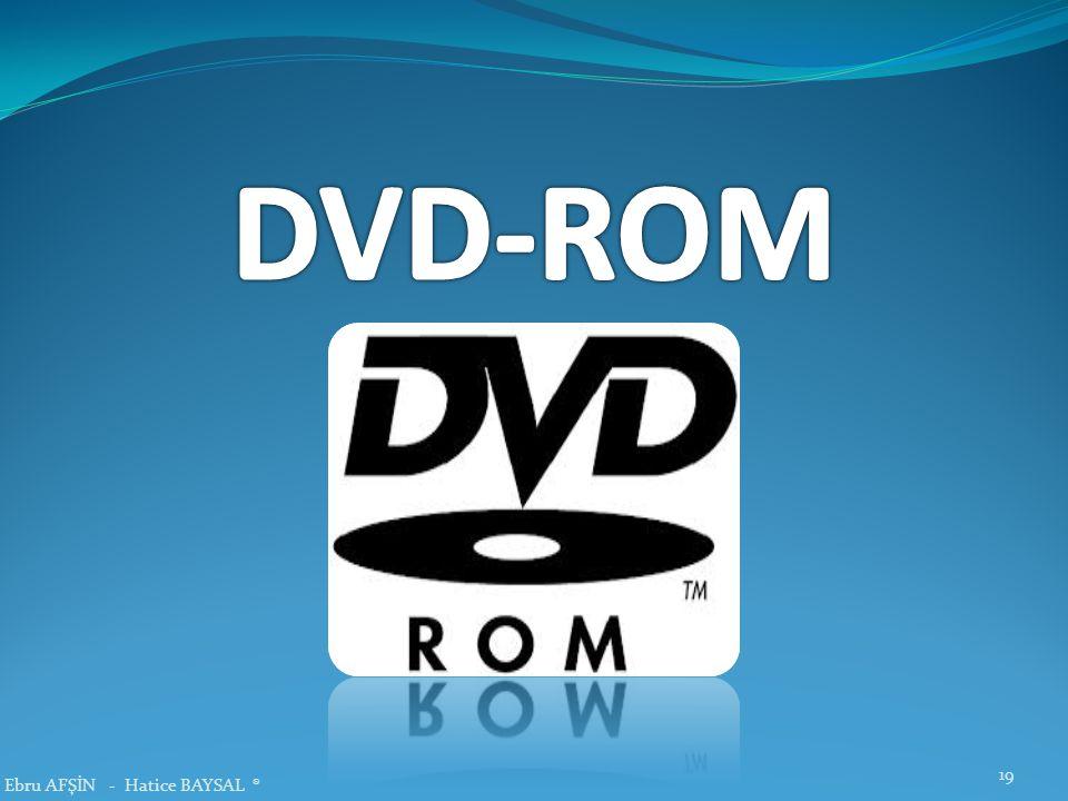 DVD-ROM Ebru AFŞİN - Hatice BAYSAL ®