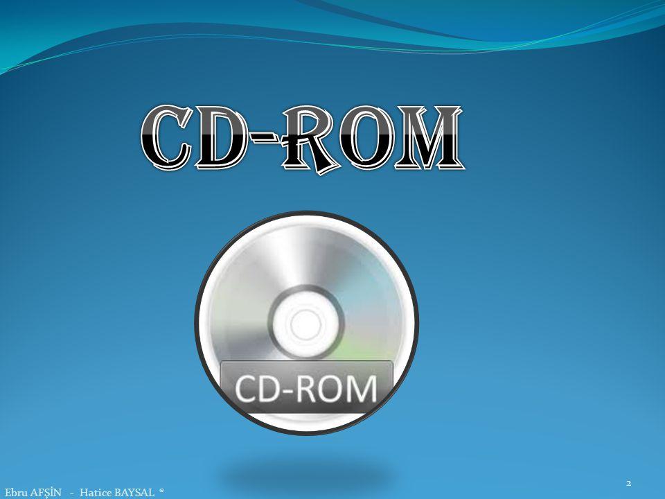 CD-ROM Ebru AFŞİN - Hatice BAYSAL ®