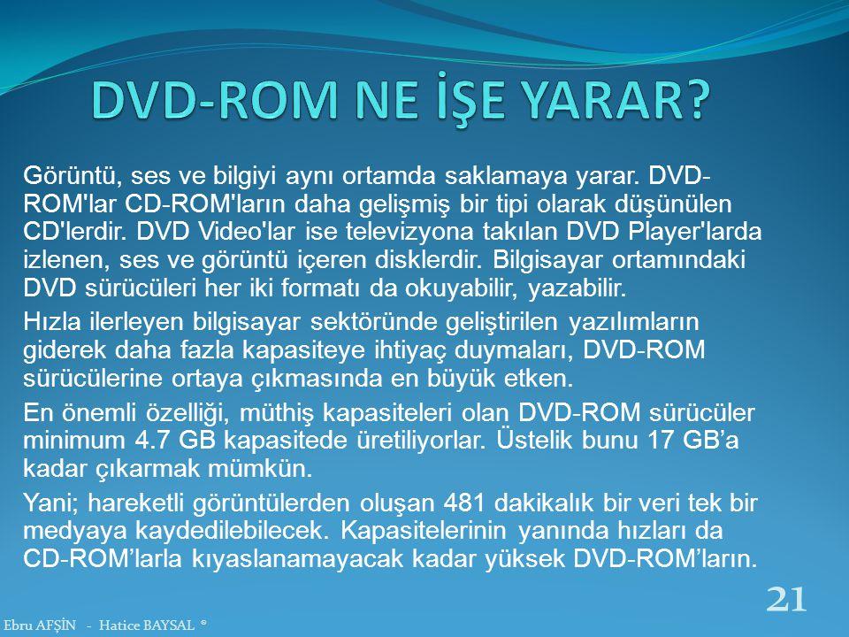 DVD-ROM NE İŞE YARAR