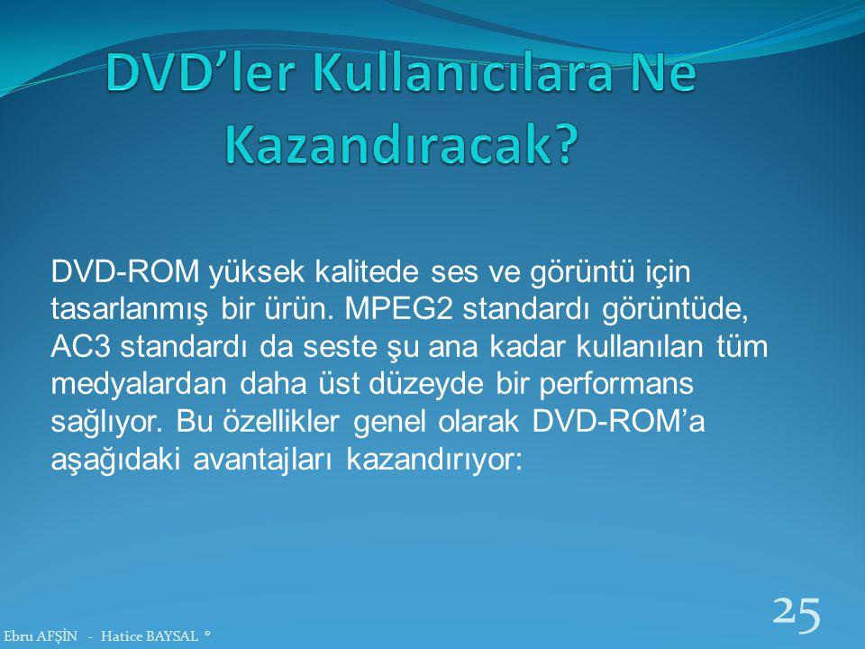 DVD'ler Kullanıcılara Ne Kazandıracak
