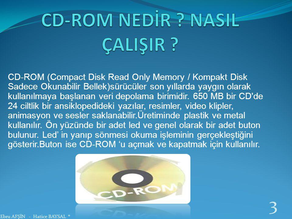CD-ROM NEDİR NASIL ÇALIŞIR