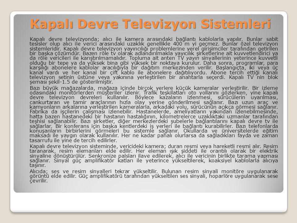 Kapalı Devre Televizyon Sistemleri