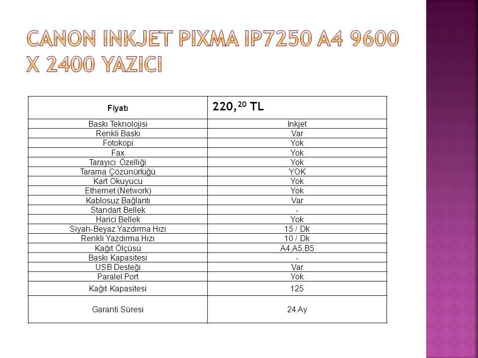 CANON INKJET PIXMA IP7250 A4 9600 x 2400 YAZICI