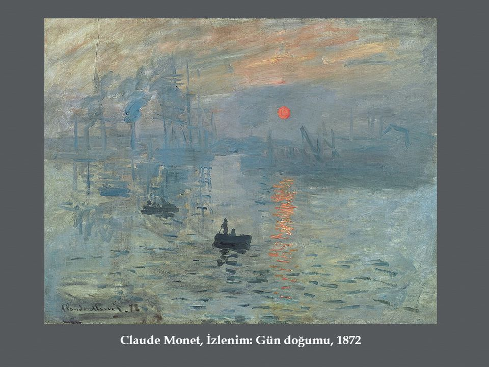 Claude Monet, İzlenim: Gün doğumu, 1872