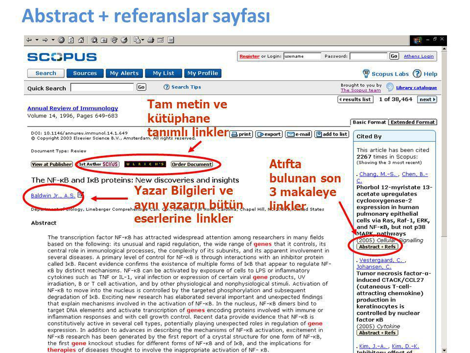 Abstract + referanslar sayfası