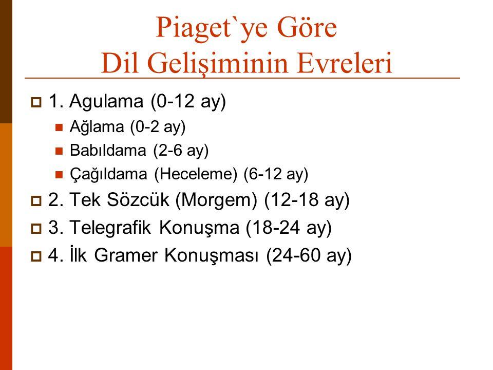 Piaget`ye Göre Dil Gelişiminin Evreleri
