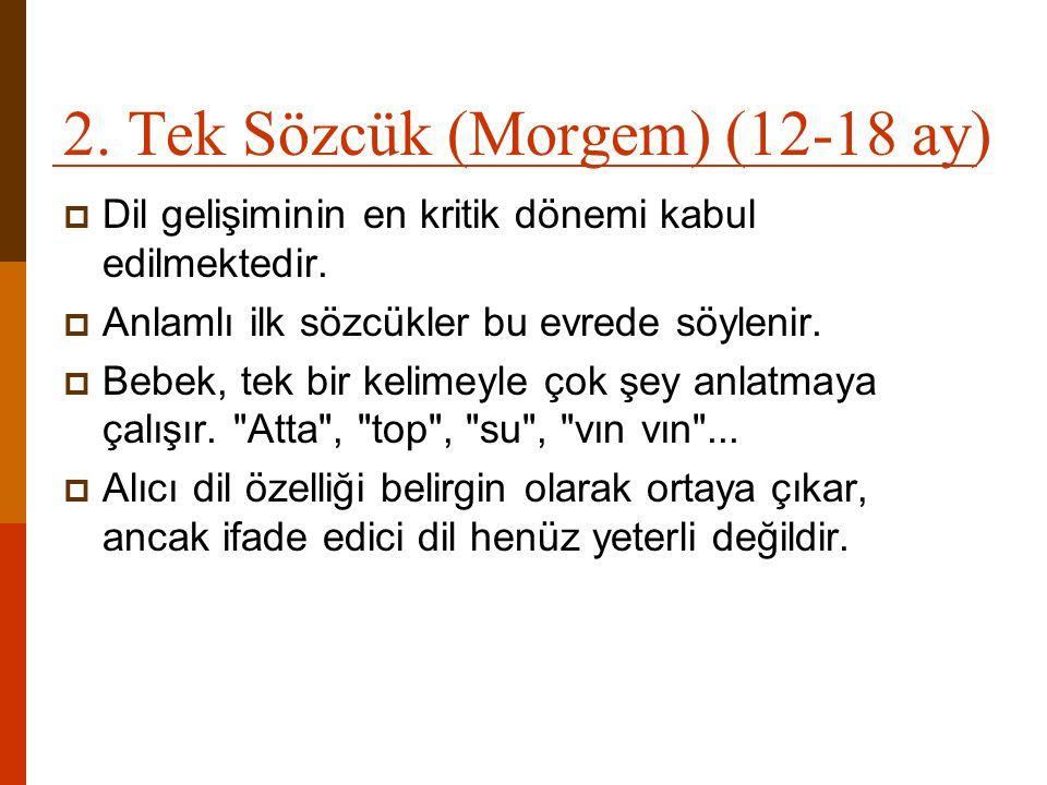 2. Tek Sözcük (Morgem) (12-18 ay)