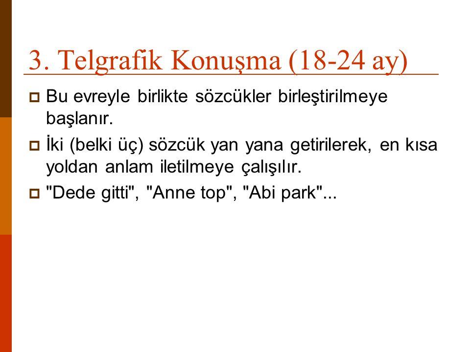 3. Telgrafik Konuşma (18-24 ay)
