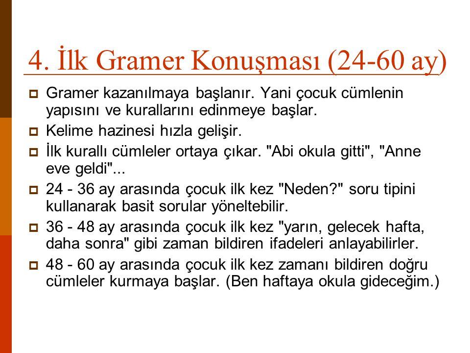 4. İlk Gramer Konuşması (24-60 ay)