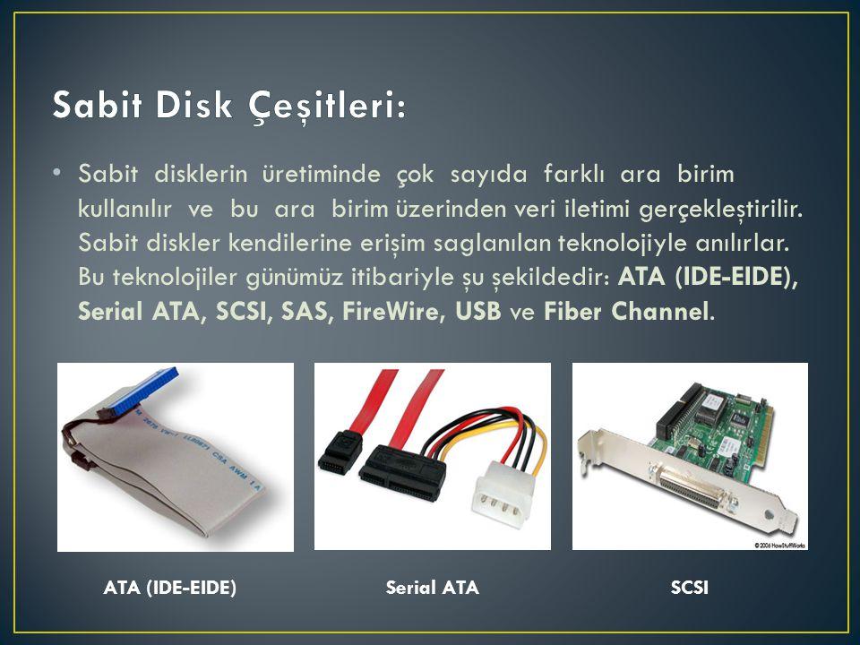 Sabit Disk Çeşitleri: