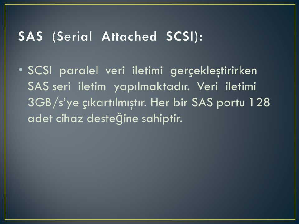SAS (Serial Attached SCSI):