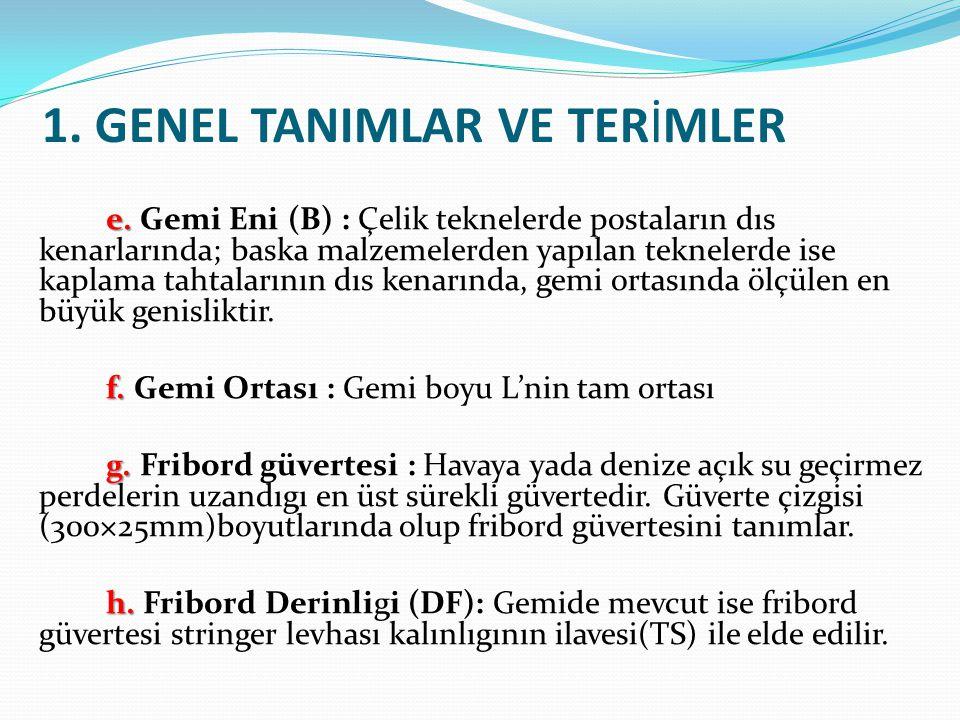 1. GENEL TANIMLAR VE TERİMLER