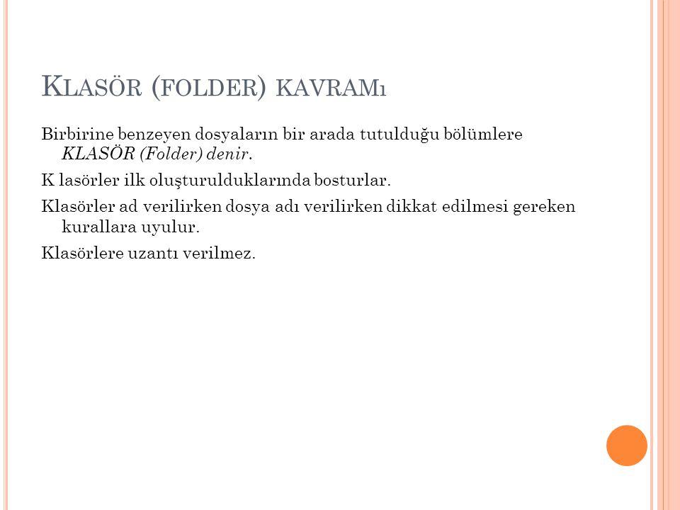 Klasör (folder) kavramı