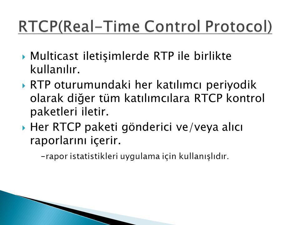RTCP(Real-Time Control Protocol)