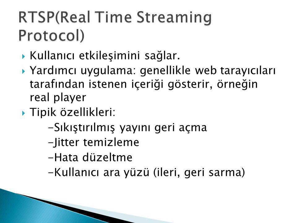RTSP(Real Time Streaming Protocol)