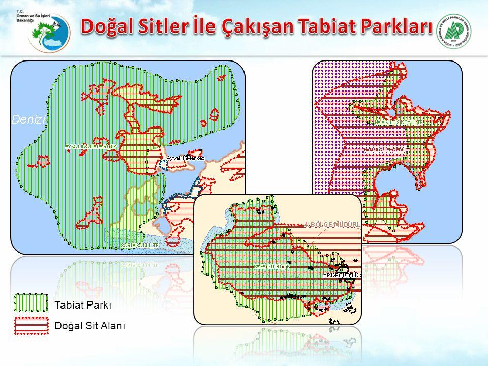 Doğal Sitler İle Çakışan Tabiat Parkları