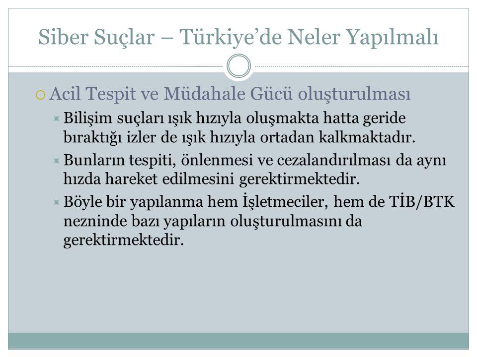 Siber Suçlar – Türkiye'de Neler Yapılmalı