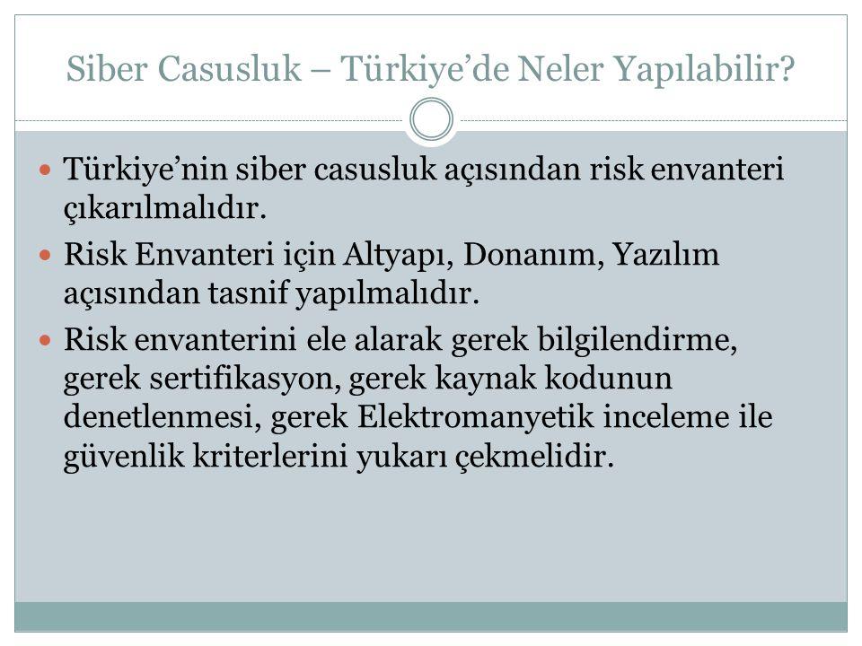 Siber Casusluk – Türkiye'de Neler Yapılabilir