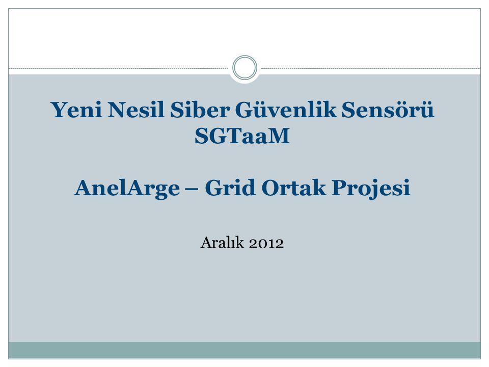 Yeni Nesil Siber Güvenlik Sensörü SGTaaM AnelArge – Grid Ortak Projesi