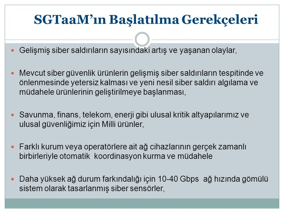 SGTaaM'ın Başlatılma Gerekçeleri