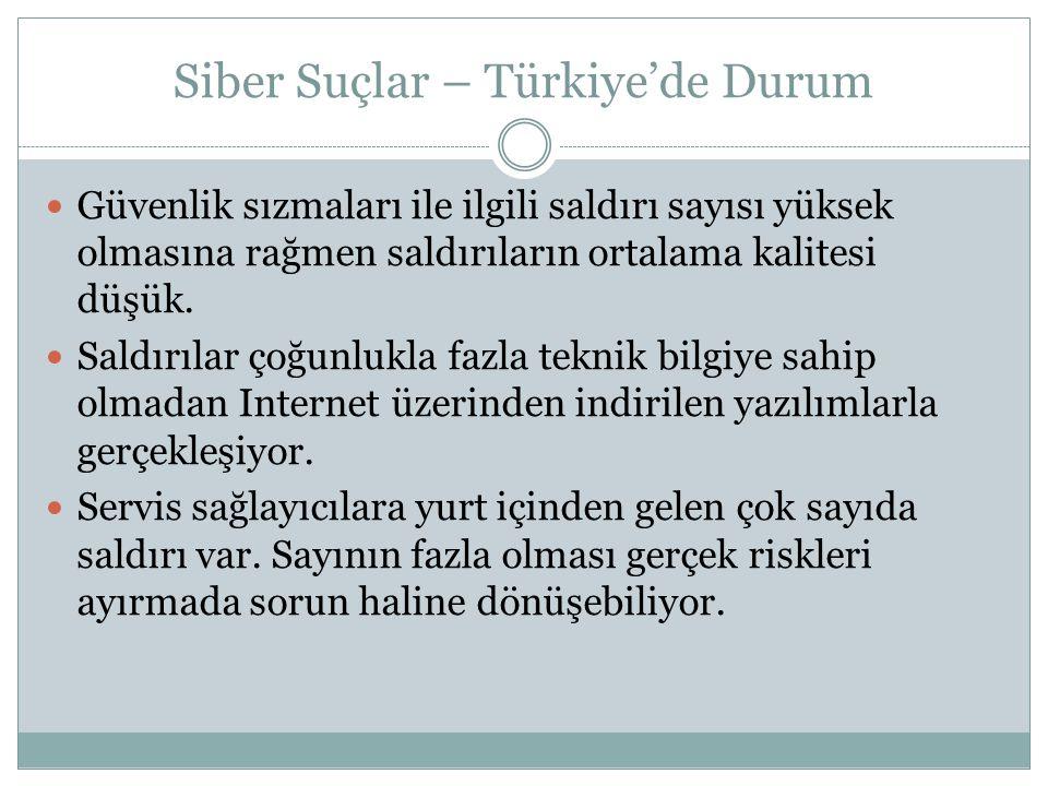Siber Suçlar – Türkiye'de Durum