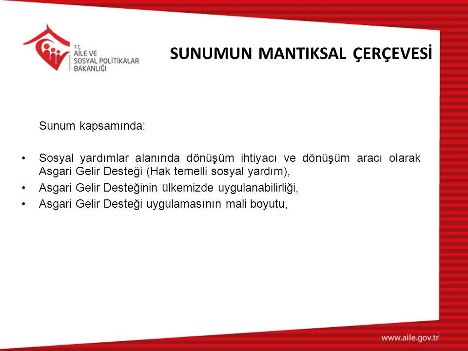 SUNUMUN MANTIKSAL ÇERÇEVESİ