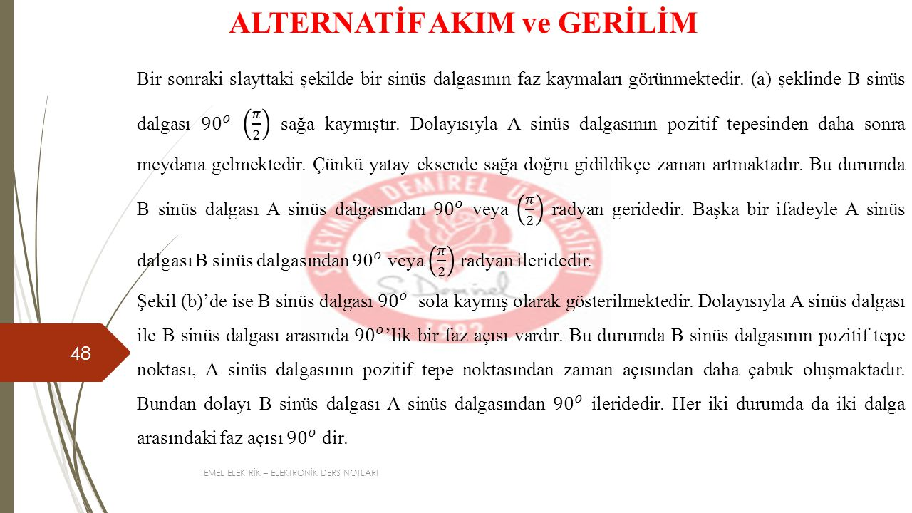 ALTERNATİF AKIM ve GERİLİM