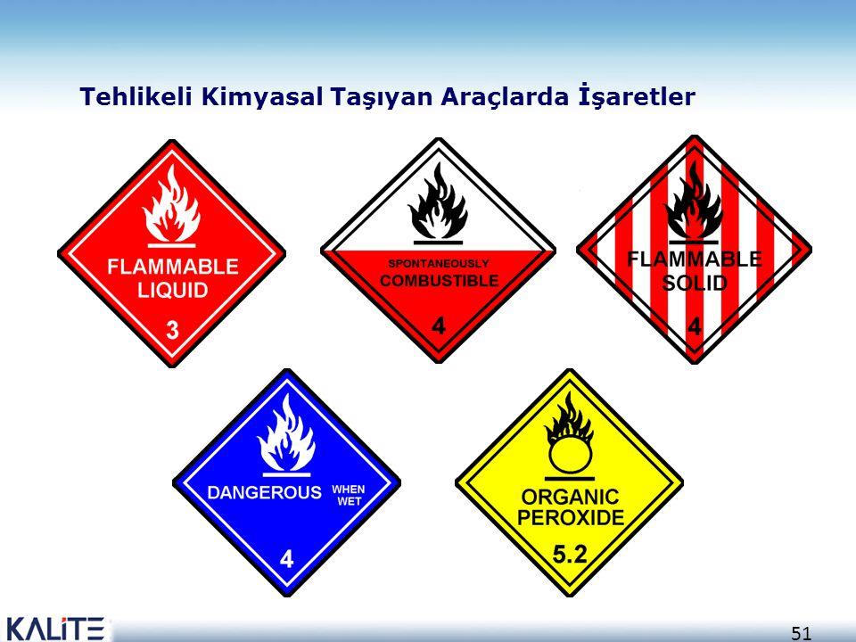 Tehlikeli Kimyasal Taşıyan Araçlarda İşaretler