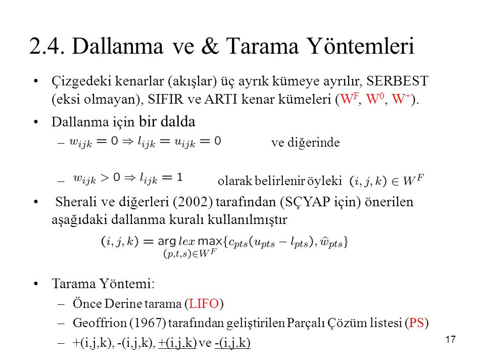 2.4. Dallanma ve & Tarama Yöntemleri