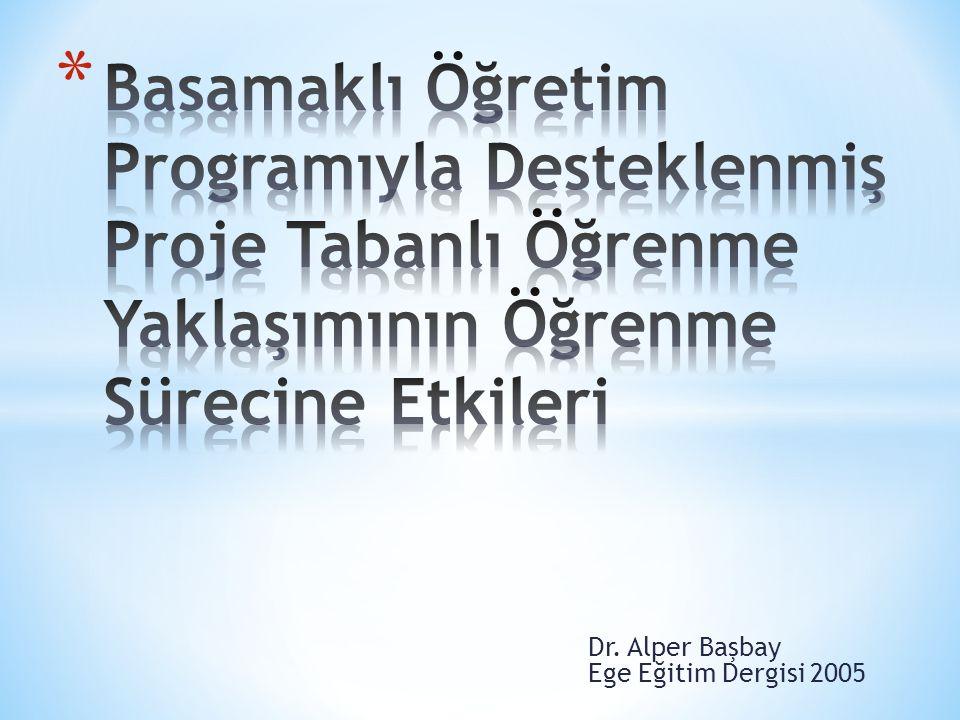 Dr. Alper Başbay Ege Eğitim Dergisi 2005