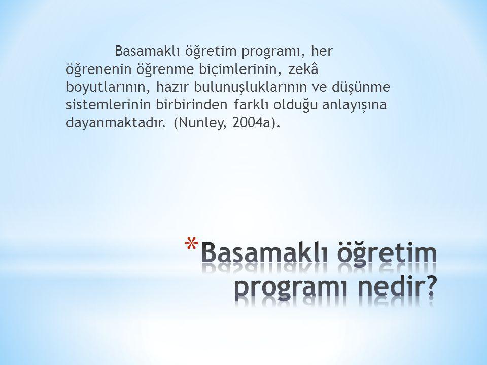 Basamaklı öğretim programı nedir