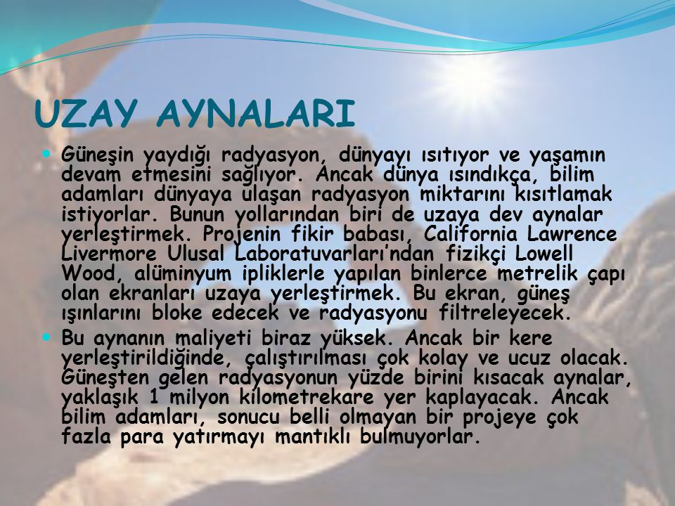 UZAY AYNALARI