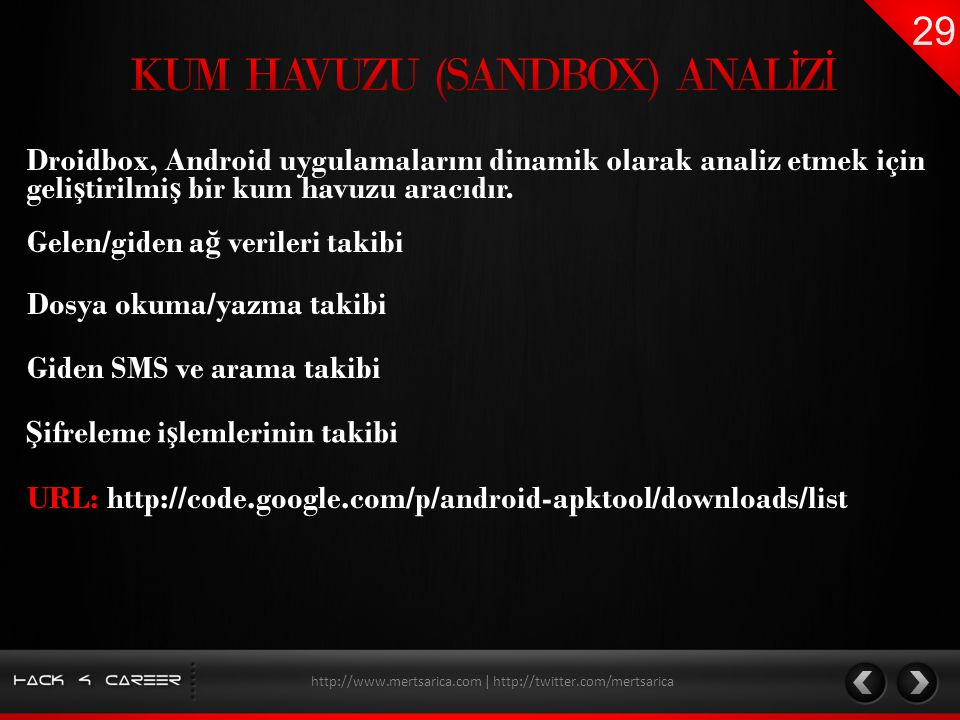 KUM HAVUZU (SANDBOX) ANALİZİ