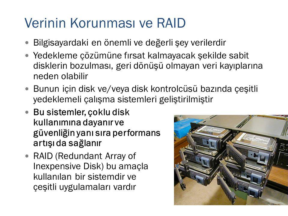 Verinin Korunması ve RAID