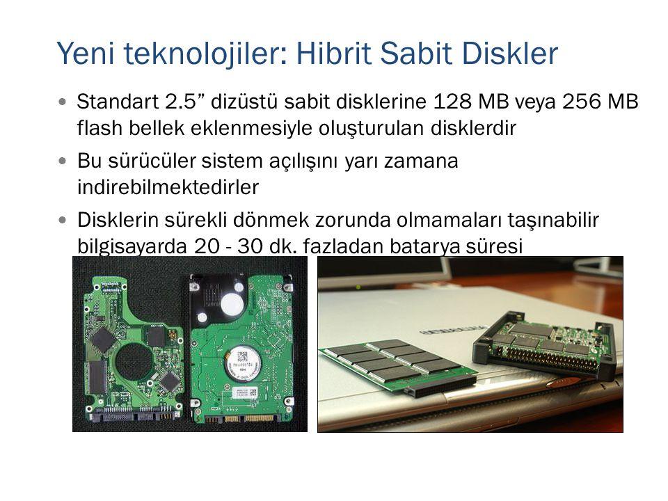 Yeni teknolojiler: Hibrit Sabit Diskler