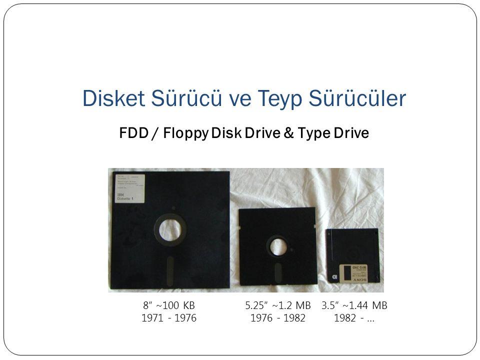 Disket Sürücü ve Teyp Sürücüler